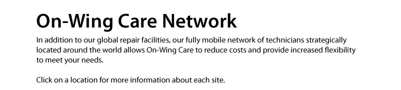 On Wing Care Service Network Map